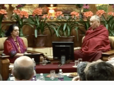 Amishi and Dalai Lama